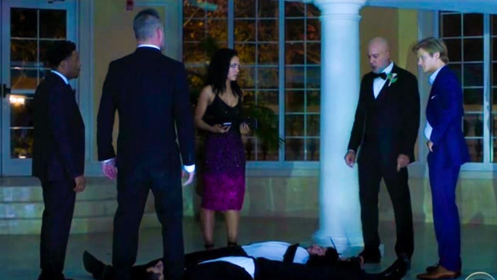 MacGyver Season 3 Episode 14 Still Lucas Till Riley Davis Angus MacGyver Bozer Jack Dalton Tristin Mays Wedding Episode