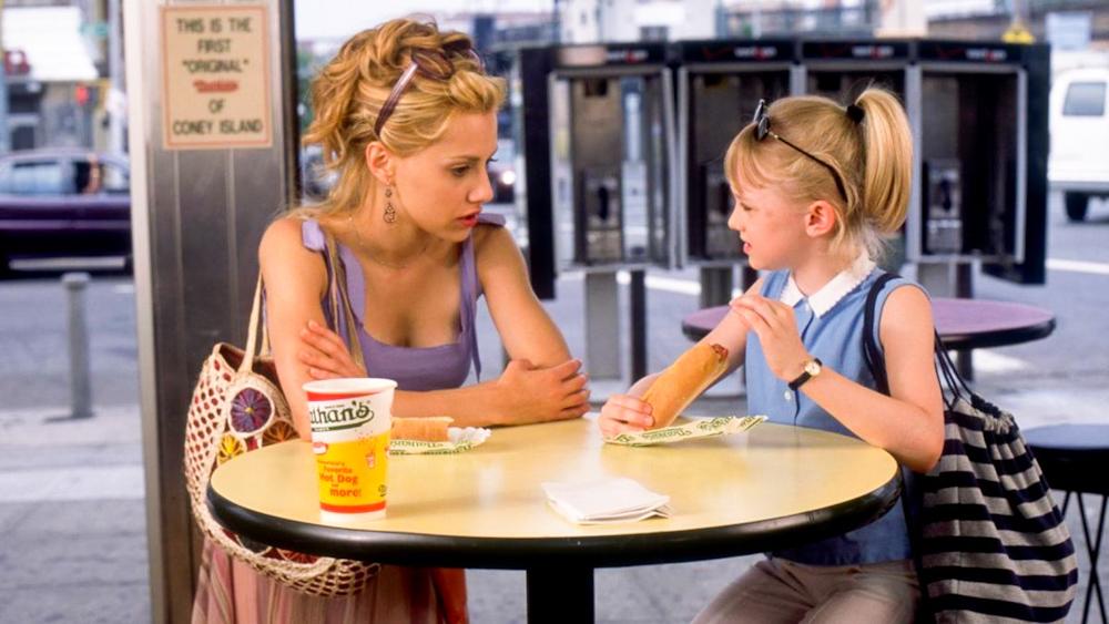 Uptown Girls Film Brittany Murphy Dakota Fanning Molly Gunn Ray Schleine Corndog Hotdog scene coney island