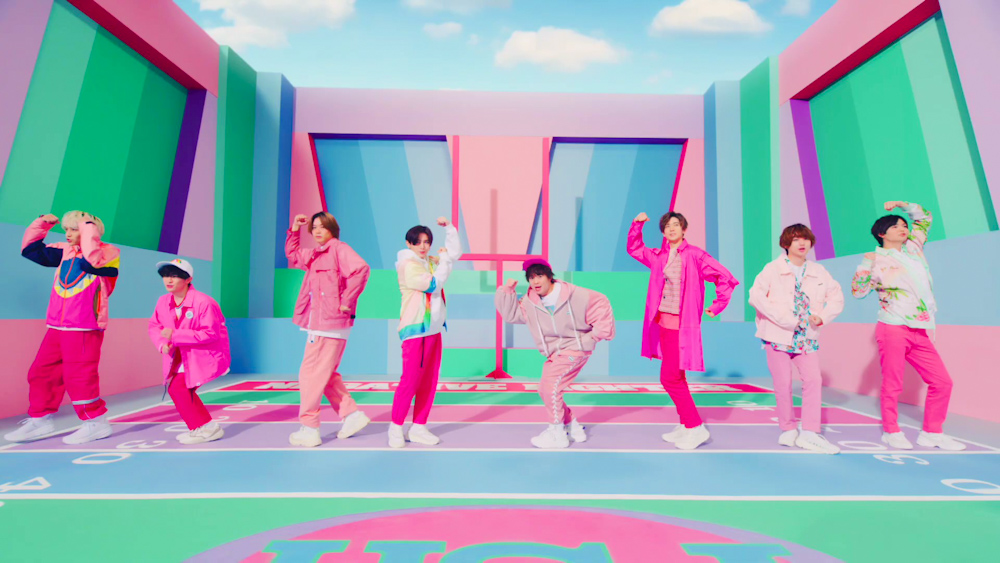 Pink Outfits in Hey! Say! JUMP's New Negative Fighter PV MV Music Video